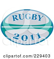 Royalty Free RF Clipart Illustration Of A Rugby 2011 Icon 1