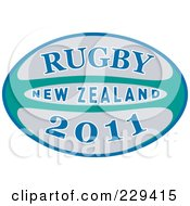 Royalty Free RF Clipart Illustration Of A Rugby 2011 Icon 3