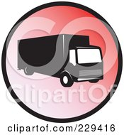Royalty Free RF Clipart Illustration Of A Delivery Truck Logo 1