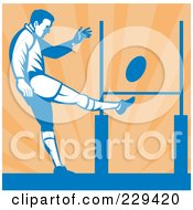 Royalty Free RF Clipart Illustration Of A Rugby Player 3