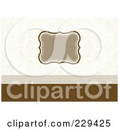 Royalty Free RF Clipart Illustration Of An Ornate Frame On An Invitation 3