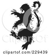 Royalty Free RF Clipart Illustration Of A Black And White Beast by BestVector