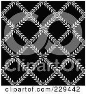 Royalty Free RF Clipart Illustration Of A Seamless Background Pattern Of Black And White Ivy Diamonds by BestVector