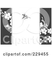 Royalty Free RF Clipart Illustration Of A Blossom Invitation Background 1