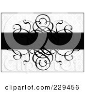 Royalty Free RF Clipart Illustration Of A Swirl Invitation Background 1