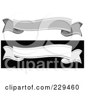 Royalty Free RF Clipart Illustration Of A Digital Collage Of Gray And White Blank Banners