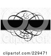 Royalty Free RF Clipart Illustration Of A Swirl Invitation Background 2