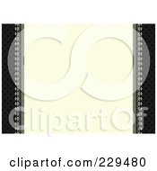 Royalty Free RF Clipart Illustration Of A Black And Beige Invitation Frame