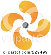 Royalty Free RF Clipart Illustration Of An Abstract Black And Orange Logo Icon 9