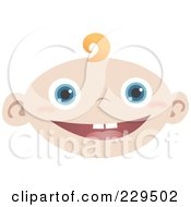 Royalty Free RF Clipart Illustration Of A Happy Baby Face