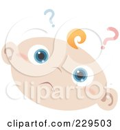 Royalty Free RF Clipart Illustration Of A Confused Baby Face