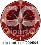 Royalty Free RF Clipart Illustration Of An Ornate Compass 3 by Qiun