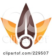 Royalty Free RF Clipart Illustration Of An Abstract Brown And Orange Logo Icon 10