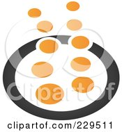 Royalty Free RF Clipart Illustration Of An Abstract Black And Orange Logo Icon 3