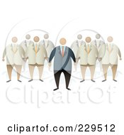 Royalty Free RF Clipart Illustration Of A Boss Standing In Front Of A Team