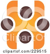 Royalty Free RF Clipart Illustration Of An Abstract Brown And Orange Logo Icon 1