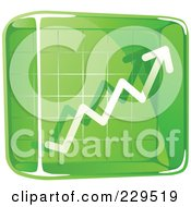 Royalty Free RF Clipart Illustration Of A Green Glass Profit Icon