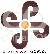 Royalty Free RF Clipart Illustration Of An Abstract Brown And Orange Logo Icon 4