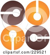 Royalty Free RF Clipart Illustration Of An Abstract Brown And Orange Logo Icon 2 by Qiun