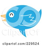 Royalty Free RF Clipart Illustration Of A Talking Blue Bird Icon 4