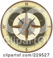 Royalty Free RF Clipart Illustration Of An Ornate Compass 2 by Qiun #COLLC229527-0141