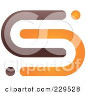 Royalty Free RF Clipart Illustration Of An Abstract Brown And Orange Logo Icon 3