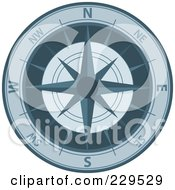Royalty Free RF Clipart Illustration Of An Ornate Compass 5 by Qiun
