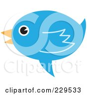 Royalty Free RF Clipart Illustration Of A Talking Blue Bird Icon 1