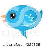 Royalty Free RF Clipart Illustration Of A Talking Blue Bird Icon 2