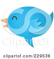Royalty Free RF Clipart Illustration Of A Talking Blue Bird Icon 5