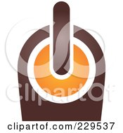 Royalty Free RF Clipart Illustration Of An Abstract Brown And Orange Logo Icon 9