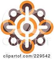 Abstract Brown And Orange Logo Icon 6