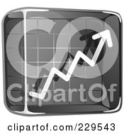 Royalty Free RF Clipart Illustration Of A Black Glass Profit Icon