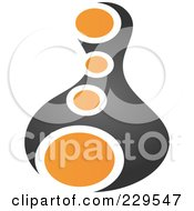 Royalty Free RF Clipart Illustration Of An Abstract Black And Orange Logo Icon 1 by Qiun