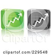 Royalty Free RF Clipart Illustration Of A Digital Collage Of Black And Green Glass Profit Icons by Qiun
