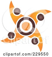 Royalty Free RF Clipart Illustration Of An Abstract Brown And Orange Logo Icon 7