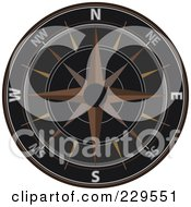 Royalty Free RF Clipart Illustration Of An Ornate Compass 1 by Qiun