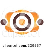Royalty Free RF Clipart Illustration Of An Abstract Brown And Orange Logo Icon 5