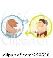 Royalty Free RF Clipart Illustration Of Two Businessmen Having A Conversation 2