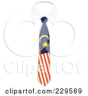 Royalty Free RF Clipart Illustration Of A Malaysia Flag Business Tie And White Collar by Qiun