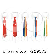 Digital Collage Of Switzerland Turkey Andorra Russia And Ireland Flag Business Ties And White Collars