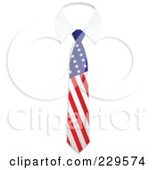 Royalty Free RF Clipart Illustration Of An American Flag Business Tie And White Collar by Qiun