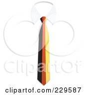 Royalty Free RF Clipart Illustration Of A Germany Flag Business Tie And White Collar by Qiun