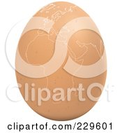 Royalty Free RF Clipart Illustration Of A Brown Egg With An African Map On It 3