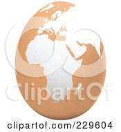 Royalty Free RF Clipart Illustration Of A Brown Egg With An African Map On It 1