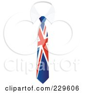 Royalty Free RF Clipart Illustration Of A Union Jack Flag Business Tie And White Collar by Qiun