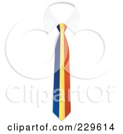 Royalty Free RF Clipart Illustration Of An Andorra Flag Business Tie And White Collar by Qiun