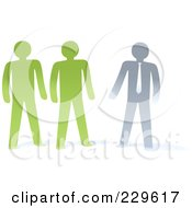 Royalty Free RF Clipart Illustration Of Paper People And A Manager