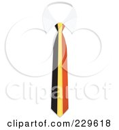Royalty Free RF Clipart Illustration Of A Belgium Flag Business Tie And White Collar by Qiun