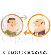 Royalty Free RF Clipart Illustration Of Two Businessmen Having A Conversation 1